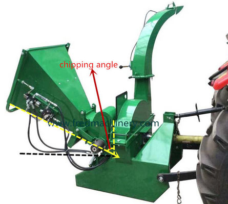 China 19 - 55HP Tractor Professional Wood Chipper Shredder With Hydraulic Feeding supplier