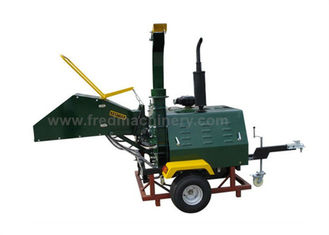 China Hydraulic Feeding Diesel Wood Chipper , 40HP Tree Shredders Chippers supplier