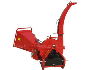 China PTO Direct Drive Hydraulic Wood Chipper Red Color With 4 Rotor Blades supplier