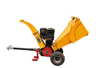 China 2 Cutting Blade Gasoline Wood Chipper With Large Feed Chute CE Certification supplier