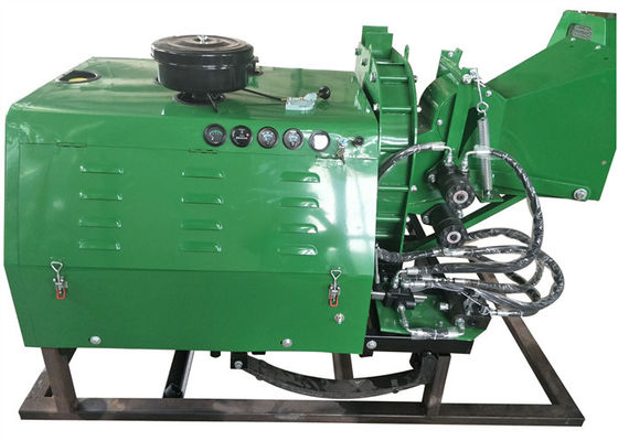 China 8 Inch Chipping Capacity Diesel Engine Wood Chipper With Hydraulic Feeding System supplier