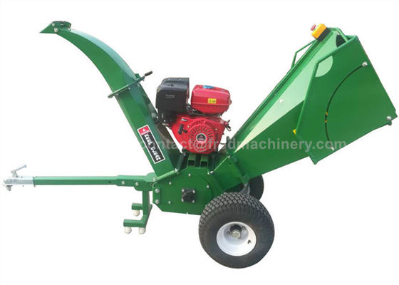 China Gasoline Engine Wood Chipper Shredder 5 Inches Chipping Capacity With 2 Cutting Knives supplier