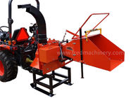 8 Inch Pto Powered Chipper , 2 Cutting Knives Pto Wood Chipper For Compact Tractor