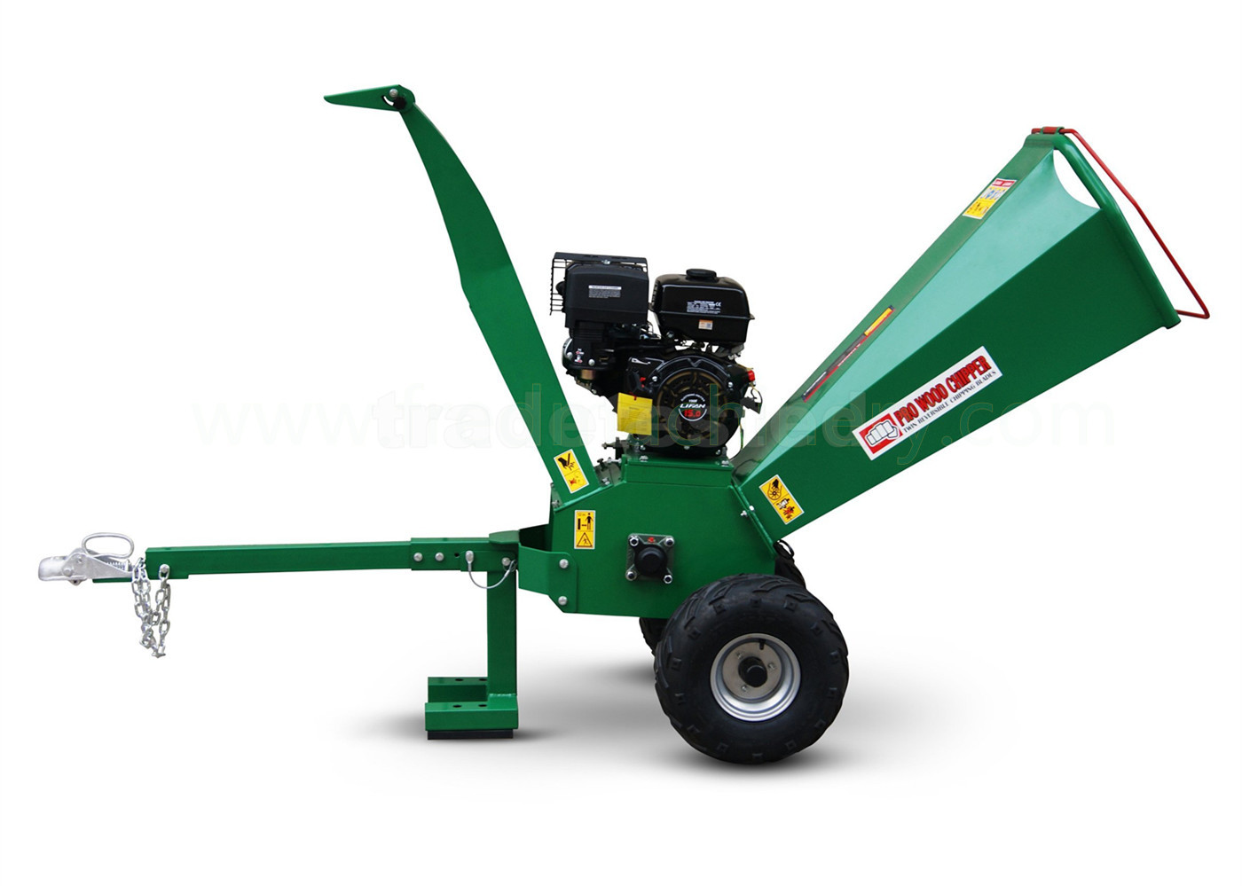 15HP Branch Shredder Chipper 5 Inch Chipping Capacity With Pull Start System