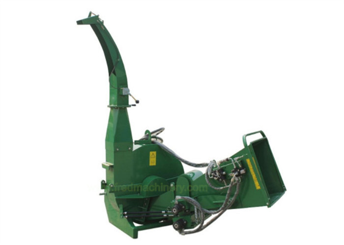 Green Color BX92R 3 Point Pto Wood Chipper Heavy Duty With Double Edge Blades