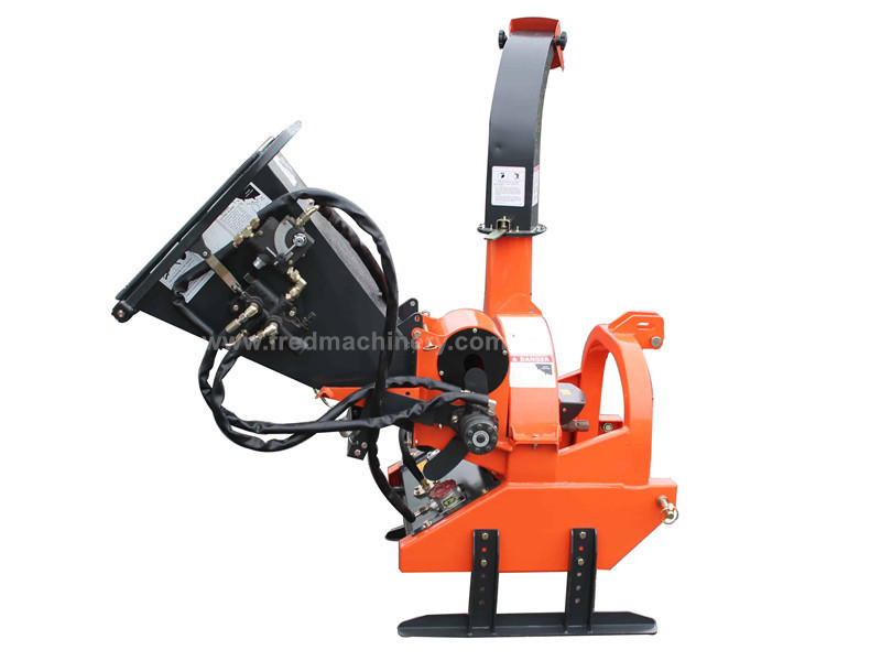 Residential Tree Chippers And Shredders With Self Contained Hydraulic Pump / Bank