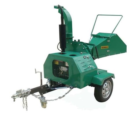 Self Feeding Trailer Mounted Chipper , Diesel Engine 8 Wood Chipper