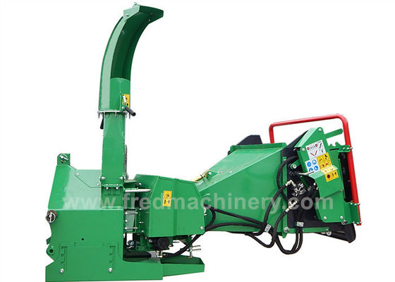 30 - 70HP Tractor 5 Inch Wood Chipper With Double Horizontal Rollers