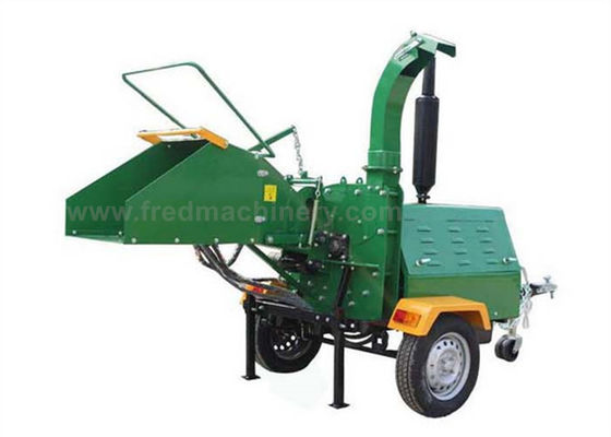 40HP 8 Inch Wood Chipper High Efficiency With 1025rpm Flywheel Turning Speed