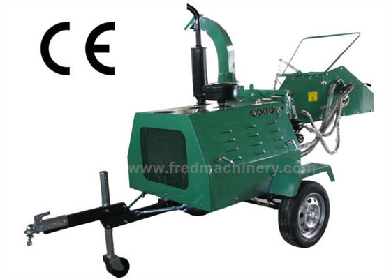 26L Hydraulic Tank 8 Inch Wood Chipper Hydraulic Feeding Custom Color