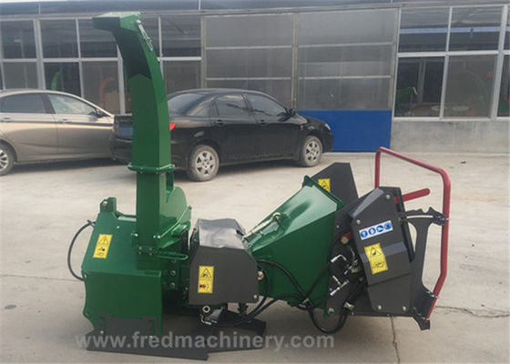 Hydraulic 5 Inch Wood Chipper 3 Point Hitch 30 - 70 HP With 4 Reverse Blades