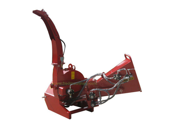 Double Rollers 6 Inch Wood Chipper Direct Drive With Hydraulic Feeding
