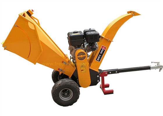 15HP Gasoline Engine 5 Inch Wood Chipper With Recoil / Electric Starting System
