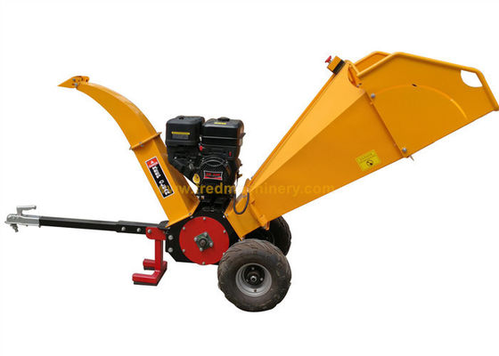 15HP Gasoline Engine Residential Wood Chipper With Emergency Stop Button