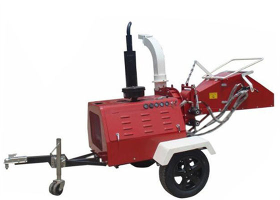 4 Cylinder Diesel Engine Wood Chipper 8 Inch Chipping Capacity CE Approval